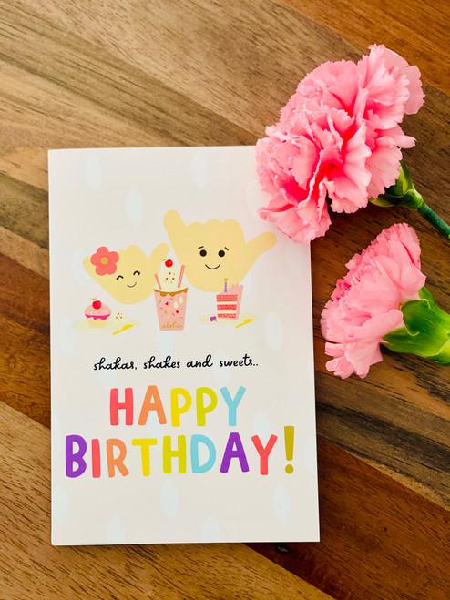 Greeting Card: Shakas and Shakes - Happy Birthday