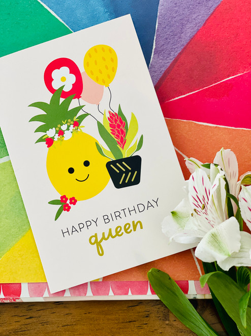 Greeting Card: Bloom Queen Birthday