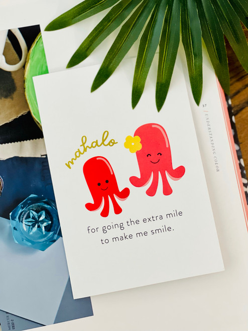 Greeting Card: Extra Mile - Mahalo