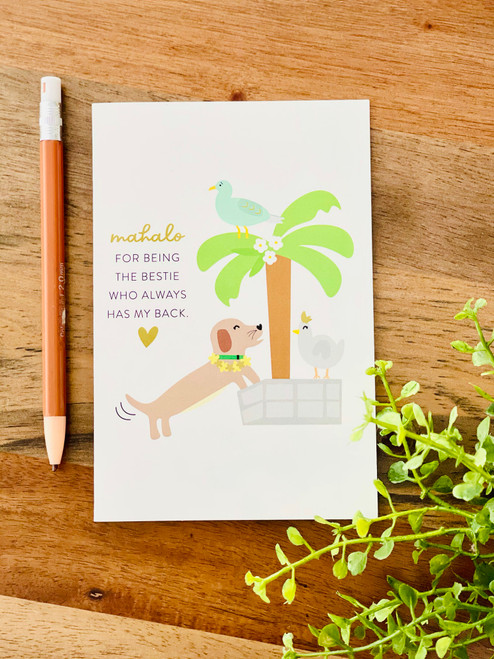 Greeting Card: Mahalo For Always Having My Back