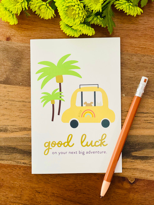 Greeting Card: Good Luck On Your New Big Adventure