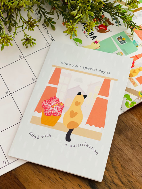 Greeting Card: Hope Your Special Day is Purrr-fect