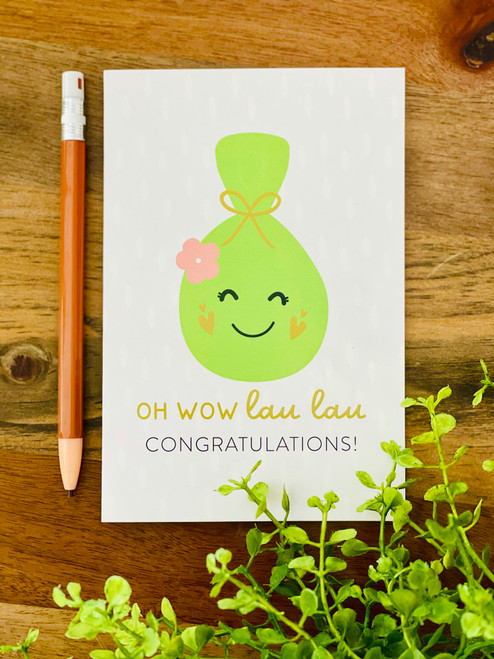 Greeting Card: Oh Wow Lau Lau!