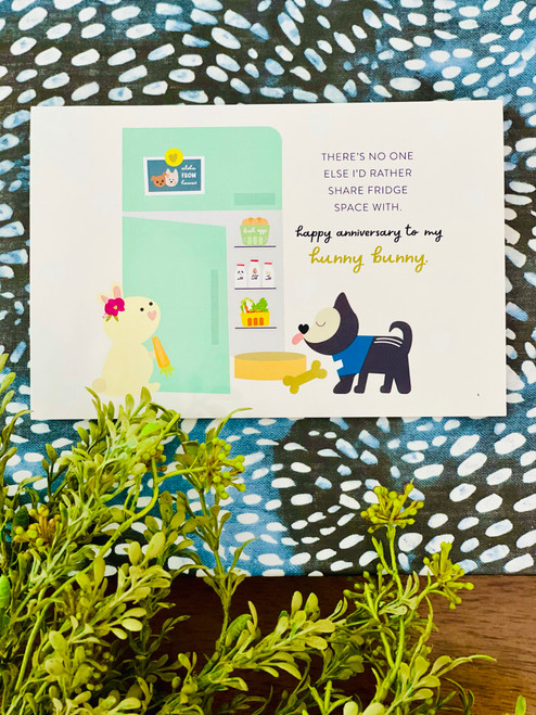 Greeting Card: Happy Anniversary To My Hunny Bunny