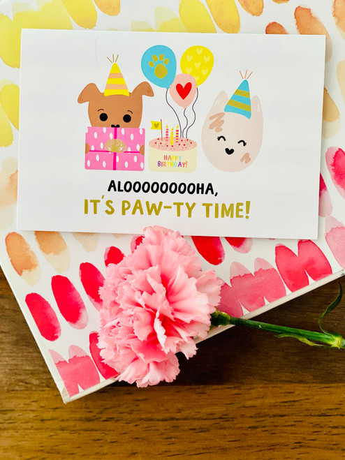 Greeting Card: It's Paw-ty Time