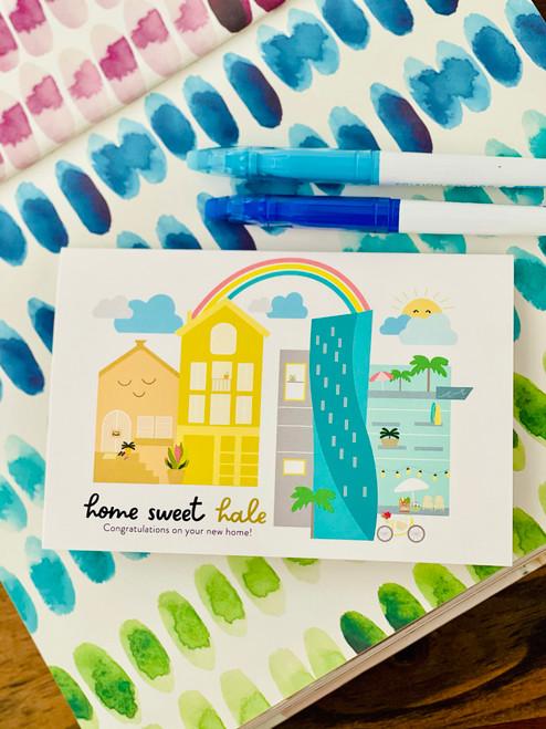 Greeting Card: Home Sweet Hale - Congrats