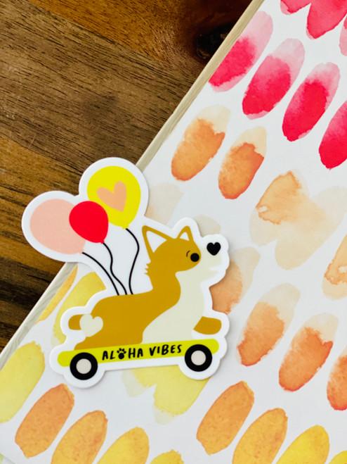 Sticker: Skater Pup