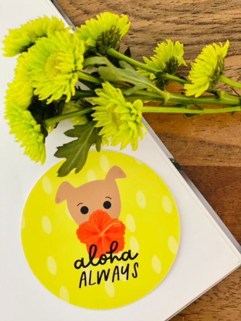 Sticker: Aloha Always Hiya-Biscus