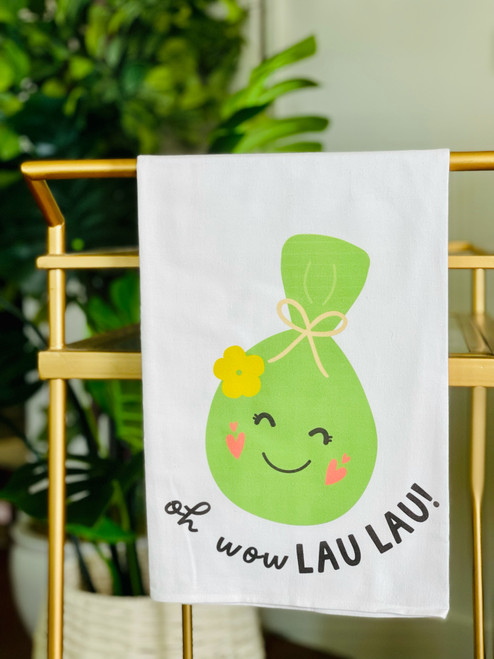 Dish Towel: Oh Wow Lau Lau!