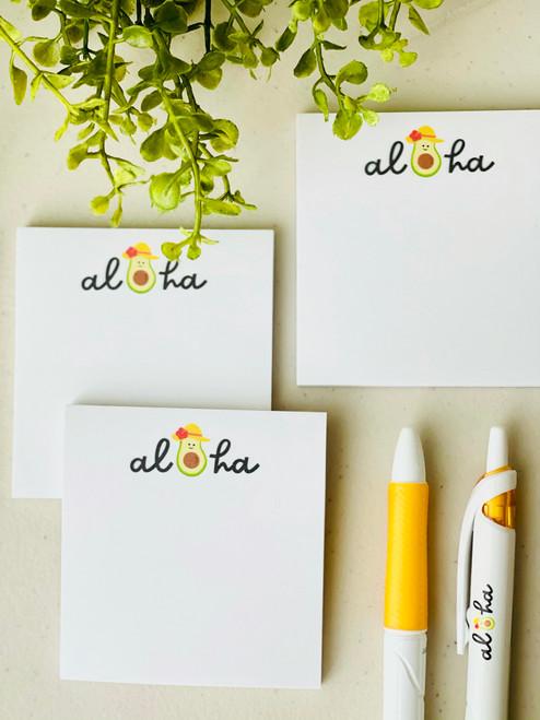 Post It Pad (50 Sheets): Avo-Aloha