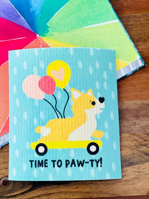 Swedish Dishcloth: Time To Paw-ty