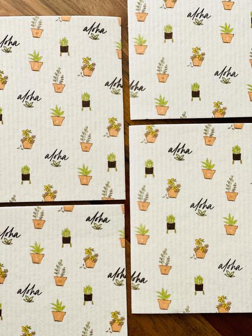 Swedish Dishcloth: Aloha Green Thumb
