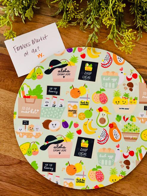 Fabric Trivet: To Da Market
