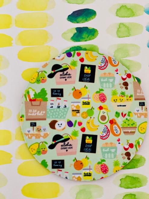 Fabric Coaster: To Da Market