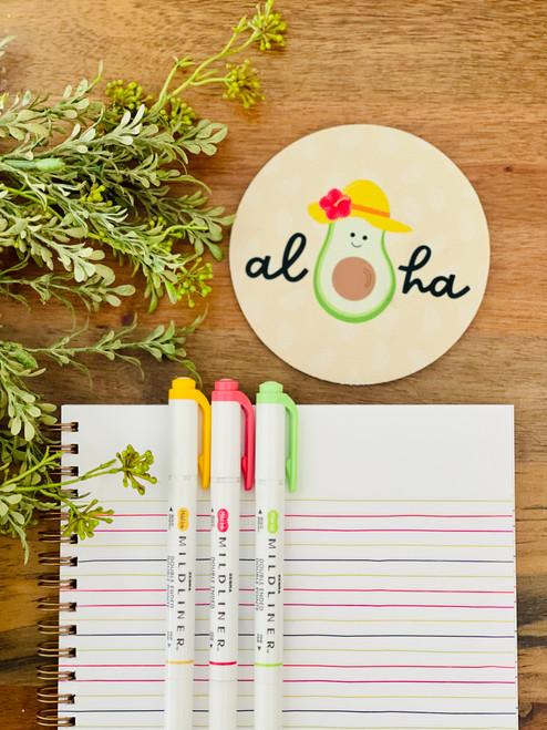 Fabric Coaster: Avo-Aloha