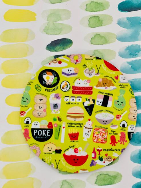 Fabric Coaster: Foodie Foodie