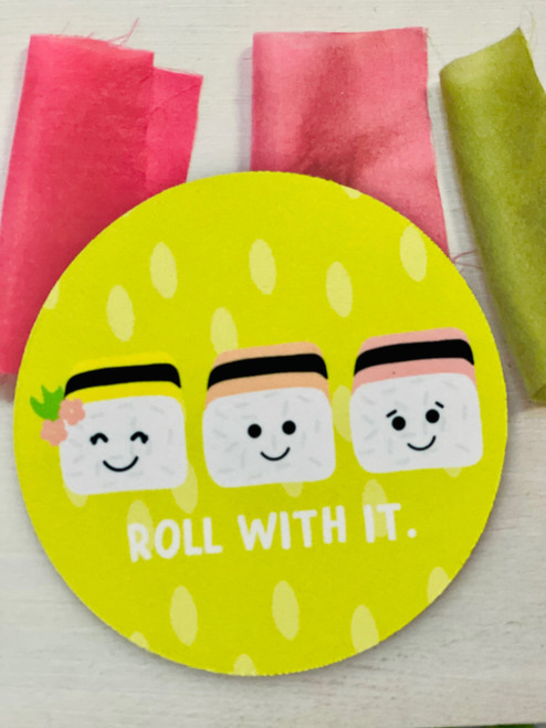 Fabric Coaster: Roll With It Lime