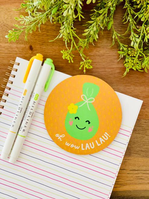 Fabric Coaster: Oh Wow Lau Lau!