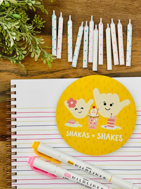 Fabric Coaster: Shakas and Shakes