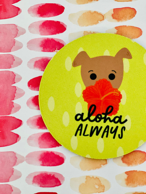 Fabric Coaster: Hiyabiscus
