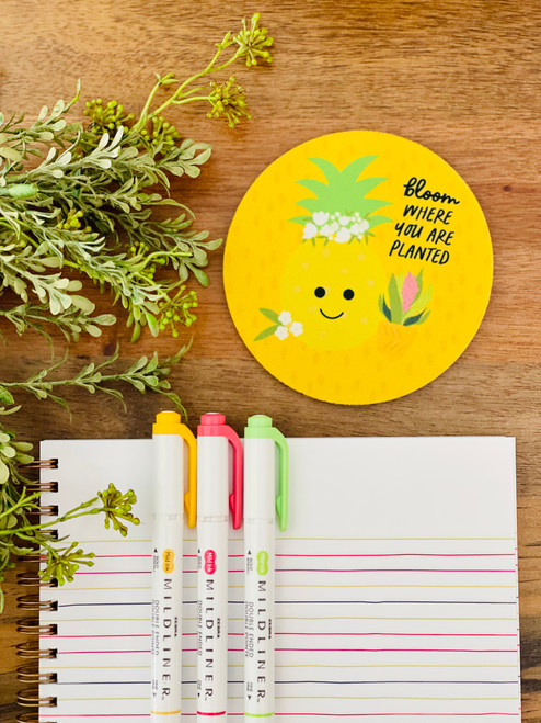 Fabric Coaster: Bloom Where You Are Planted