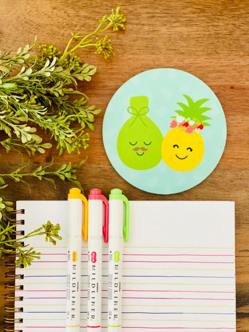 Fabric Coaster: Pineapple & Lau Lau Couple