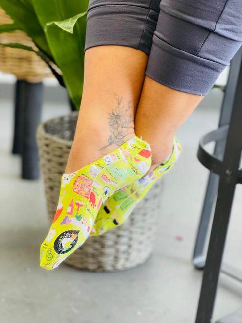 Liner Socks: Foodie Foodie