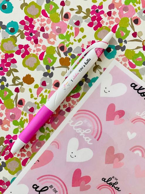 Acroball Pen: I Aloha You A Latte (Pink)