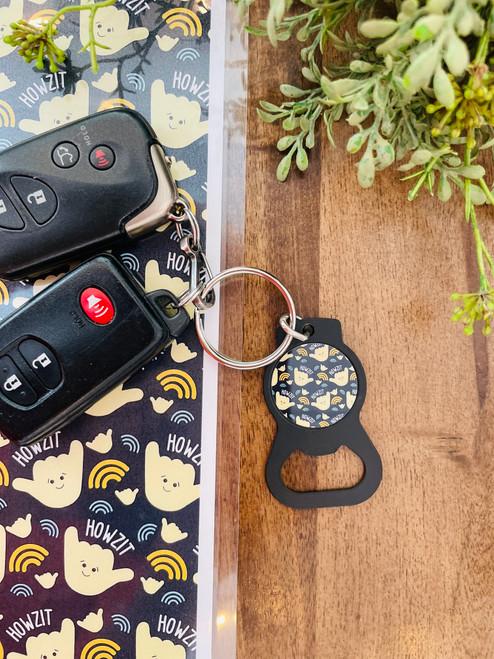 Bottle Opener Keychain: Howzit Shaka