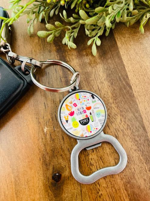 Bottle Opener Keychain: Heart of Eden Icons