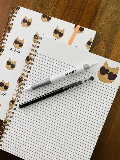 Spiral Notebook: Feline Fine