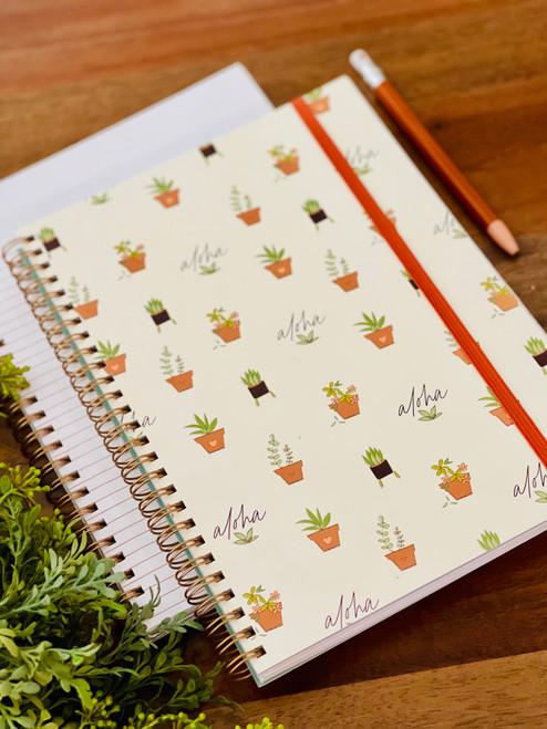 Spiral Notebook: Aloha Green Thumb