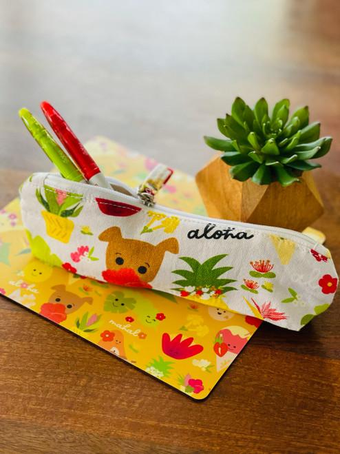 Pencil Pouch: Aloha Bloomies