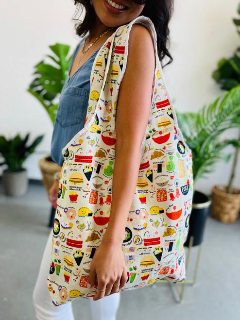 Roll Up Tote: Foodie Foodie