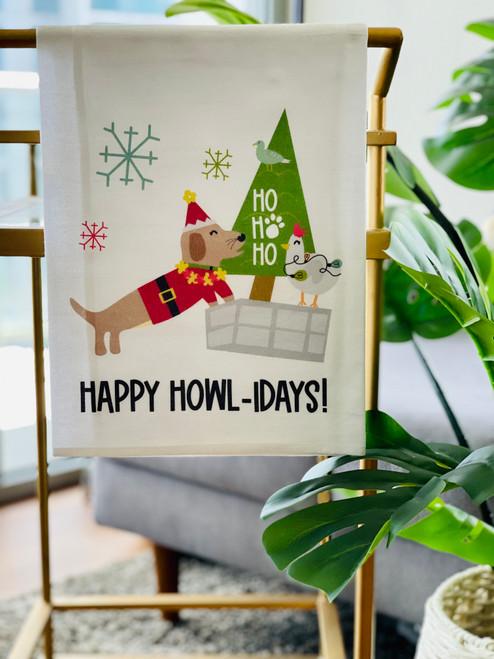 Dish Towel: Happy Howlidays