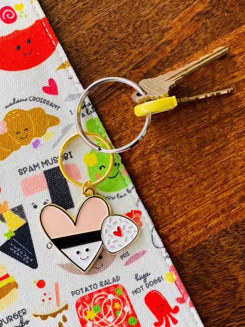Enamel Keychain: Musubi Hearts