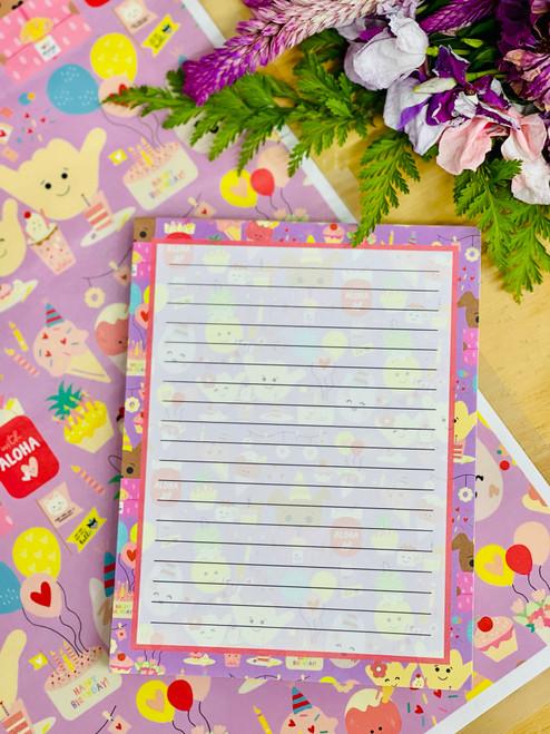 Notepad (50 Sheets): Aloha Party Posse