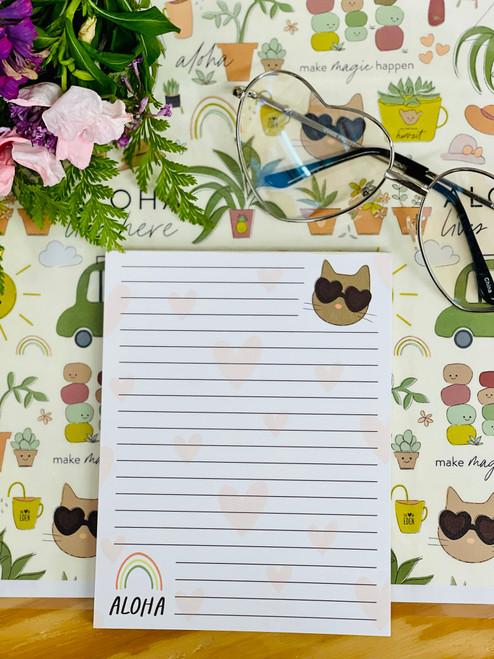 Notepad (50 Sheets): Feline Fine