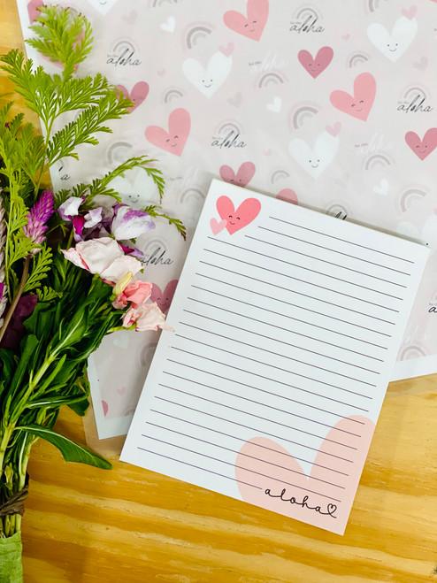 Notepad (50 Sheets): Happy Heart