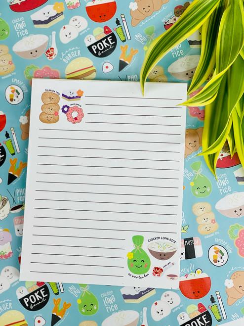 Notepad (50 Sheets): Hawaiian Food