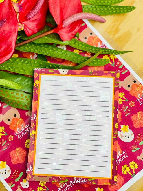 Notepad (50 Sheets): HiyaBiscus