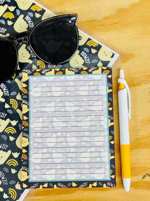 Notepad (50 Sheets): Howzit Shaka