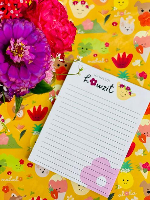 Notepad (50 Sheets): Howzit Shakulani