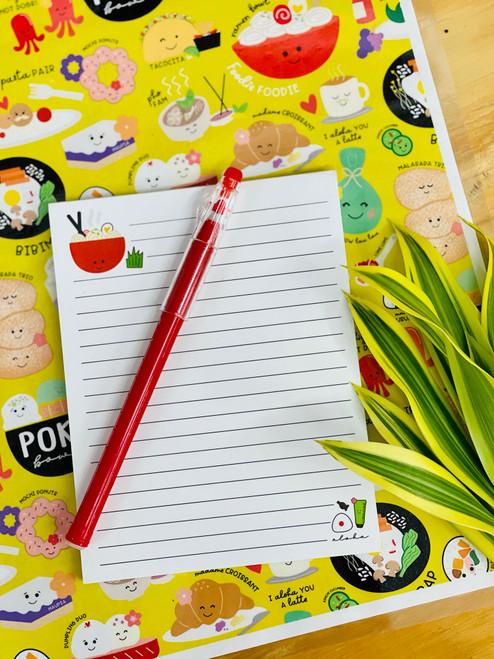 Notepad (50 Sheets): Ramen Grinds