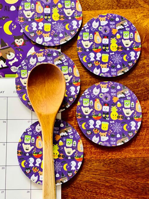Fabric Coaster: Trick Or Tr'Eden