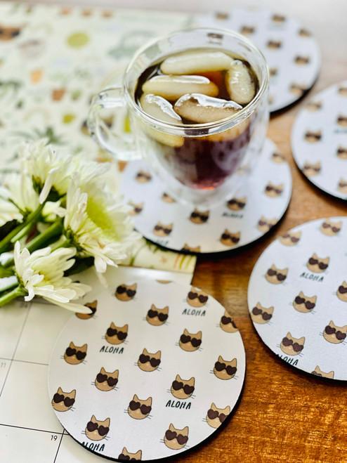 Fabric Coaster: Feline Fine (All Over)