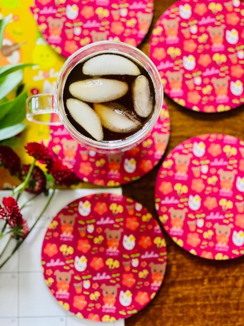 Fabric Coaster: HiyaBiscus (All Over)