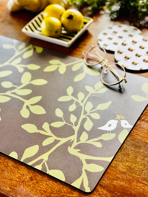 Plastic Placemat: Leaves in Bloom