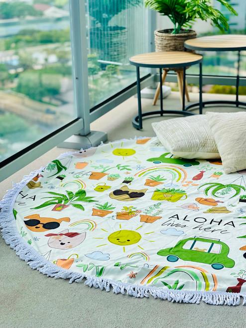 Round Towel: Desert Luxe