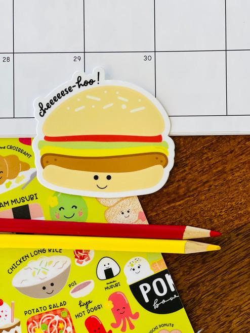 Sticker: Cheese-Hoo Cheesburger